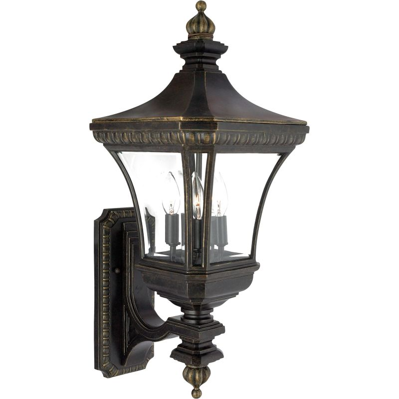 "Quoizel DE8960 Devon 3 Light 26"" Tall Outdoor Wall Sconce with Clear"