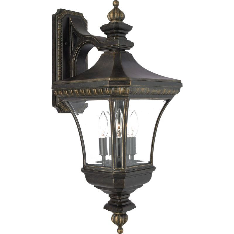 "Quoizel DE8961 Devon 3 Light 25"" Tall Outdoor Wall Sconce with Clear"