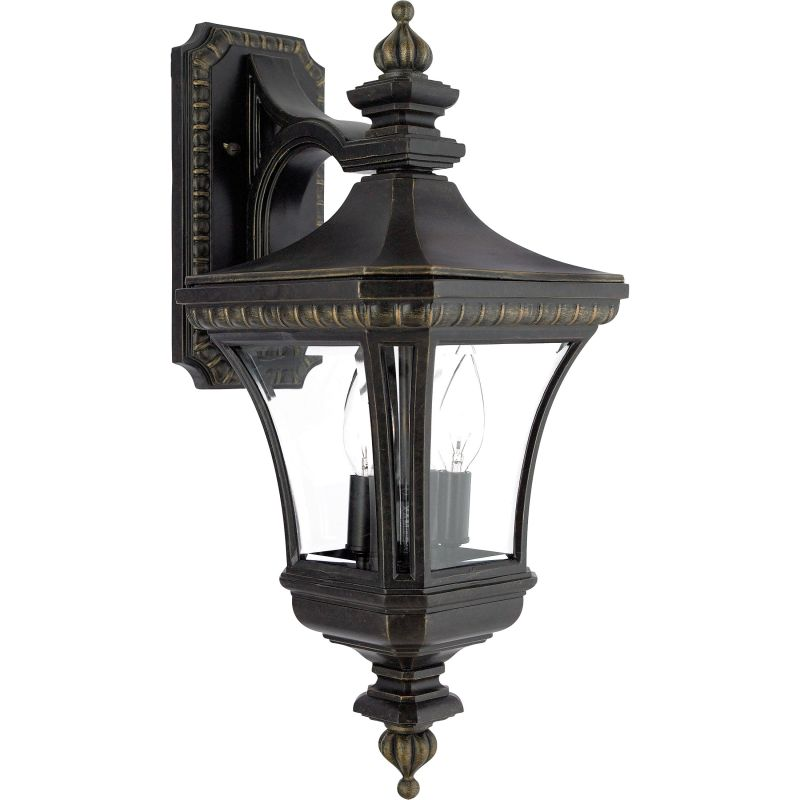 "Quoizel DE8976 Devon 2 Light 21"" Tall Outdoor Wall Sconce with Clear"