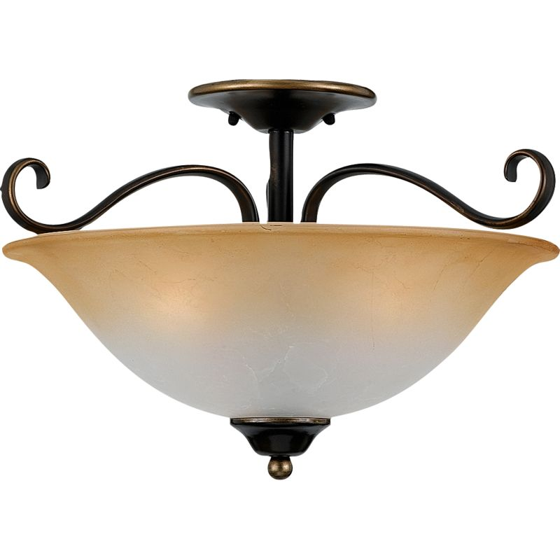 "Quoizel DH1718 Duchess 3 Light 17"" Wide Semi-Flush Ceiling Fixture"