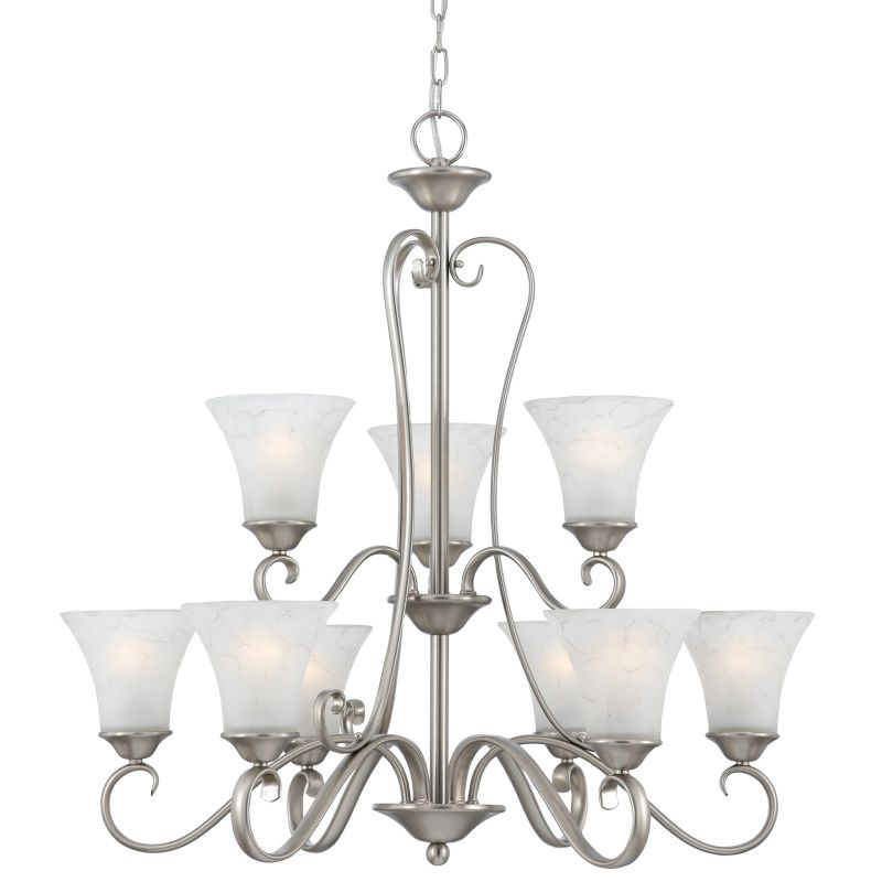 "Quoizel DH5009 Duchess 9 Light 2 Tier 31"" Wide Chandelier with Grey"