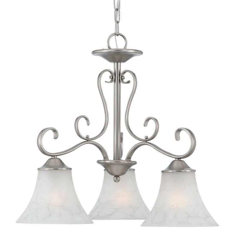 "Quoizel DH5103 Duchess 3 Light 23"" Wide Chandelier with Grey Marble"