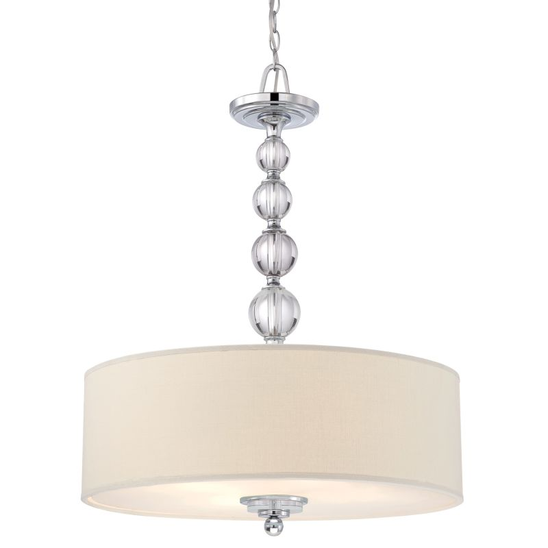 Quoizel DW1824 Downtown 4 Light Drum Pendant with Fabric Shade