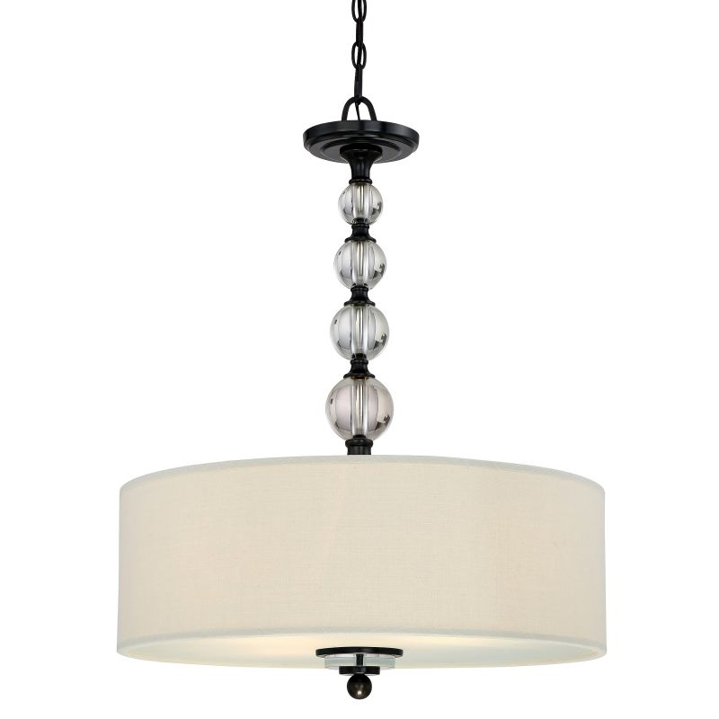 Quoizel DW1824 Downtown 4 Light Drum Pendant with Fabric Shade Dusk