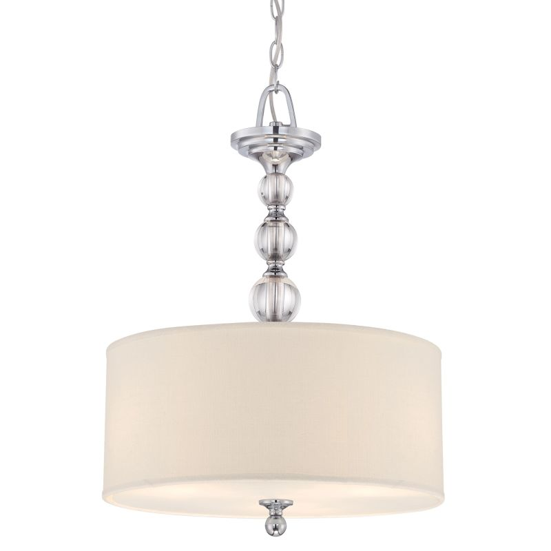 Quoizel DW2817 Downtown 3 Light Drum Pendant with Fabric Shade Sale $369.99 ITEM: bci522354 ID#:DW2817C UPC: 611728130452 :