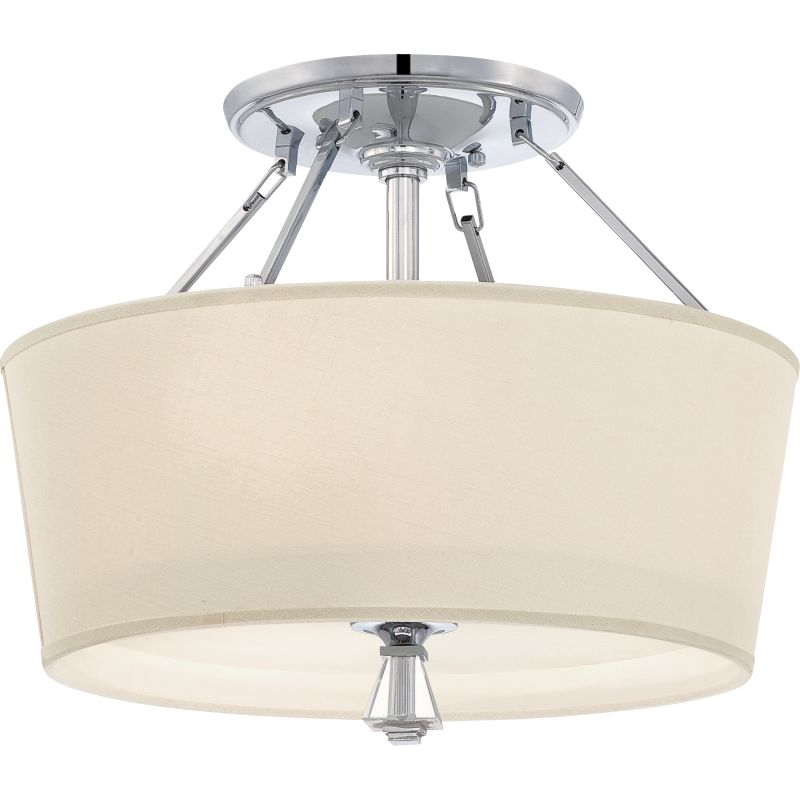 "Quoizel DX1718 Deluxe 3 Light 18"" Wide Semi-Flush Ceiling Fixture with"