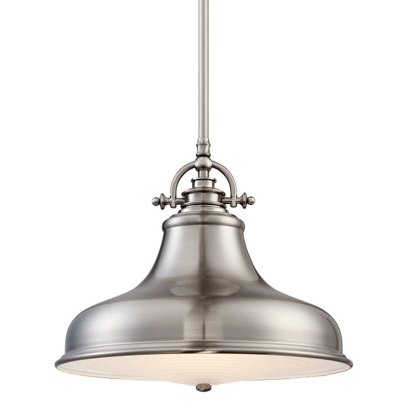 "Quoizel ER1814 Emery 1 Light 13.5"" Wide Pendant Brushed Nickel Indoor"