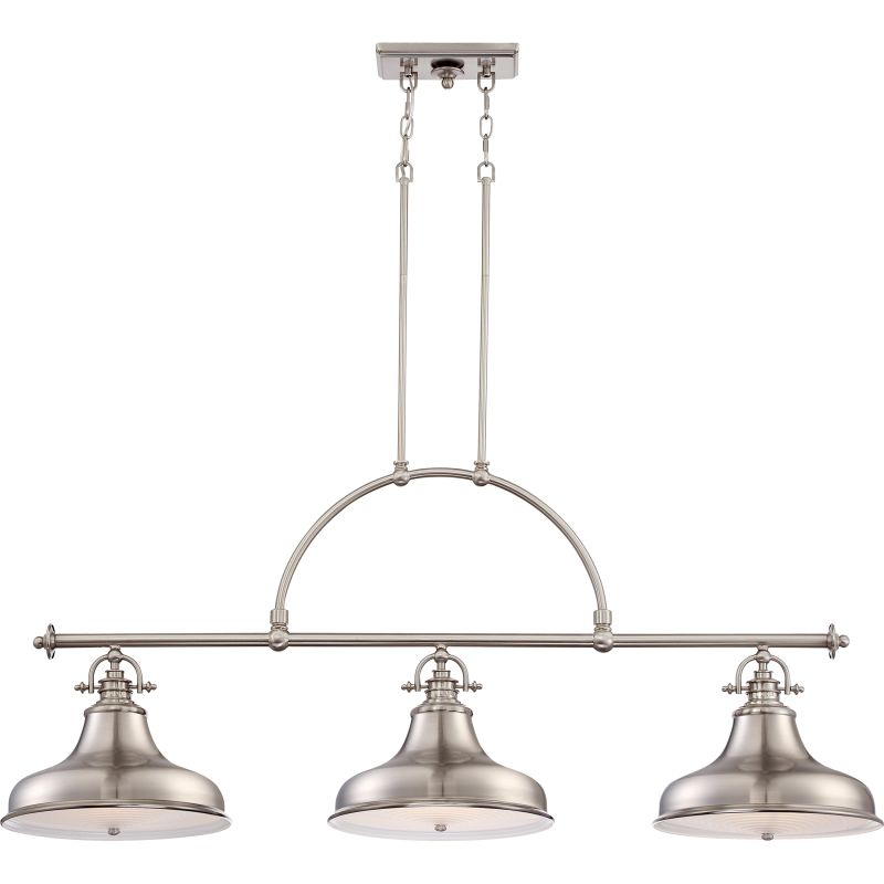 "Quoizel ER353 Emery 3 Light 52.5"" Wide Chandelier Brushed Nickel"