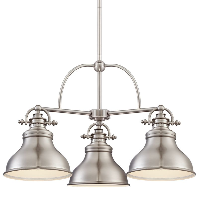 "Quoizel ER5103 Emery 3 Light 24"" Wide Chandelier Brushed Nickel Indoor"