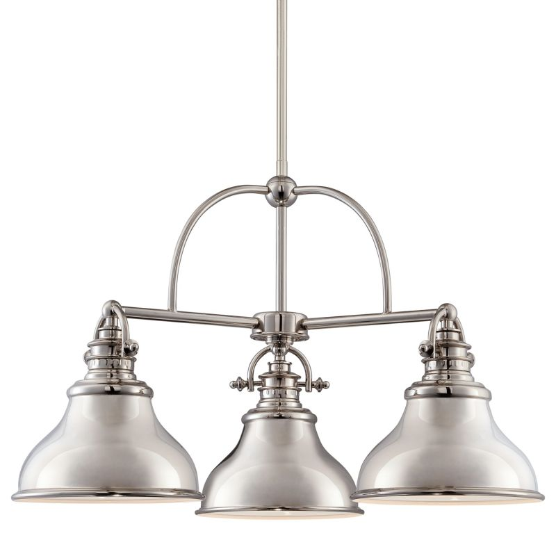 "Quoizel ER5103 Emery 3 Light 24"" Wide Chandelier Imperial Silver"