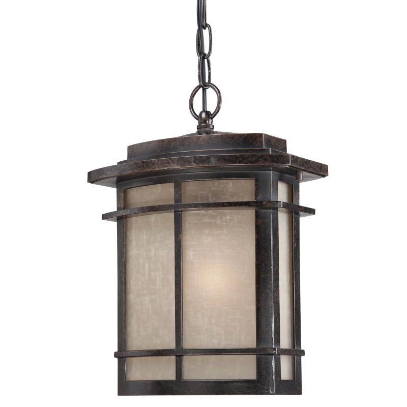 """Quoizel GLN1910 Galen 1 Light 10"""" Wide Outdoor Pendant Lantern with"""