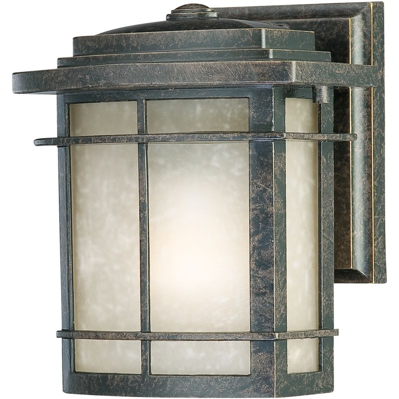 "Quoizel GLN8407 Galen 1 Light 8"" Tall Outdoor Wall Sconce with Umber"