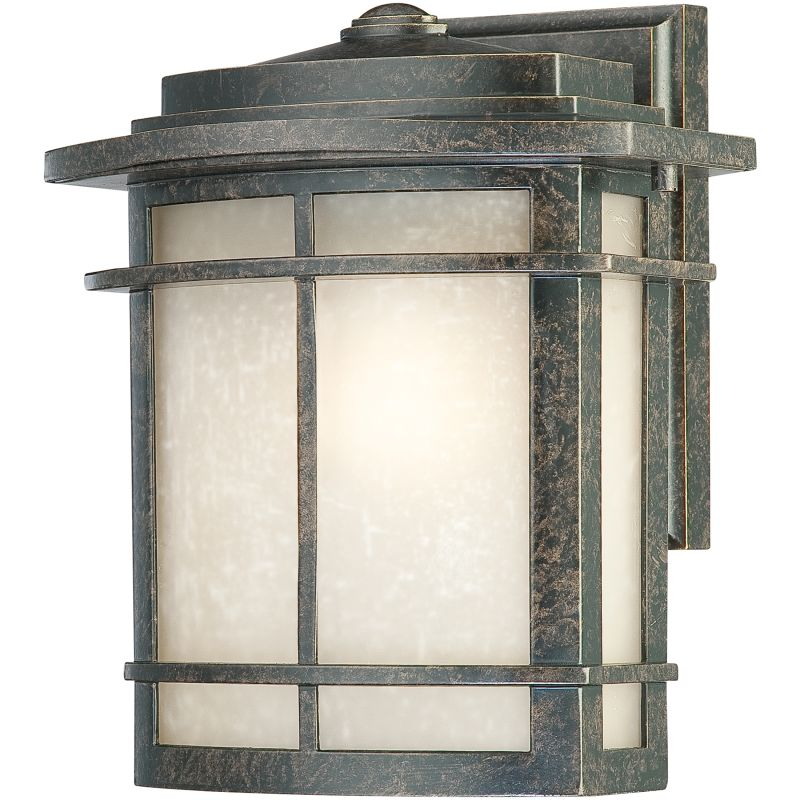 "Quoizel GLN8409 Galen 1 Light 10"" Tall Outdoor Wall Sconce with Umber"