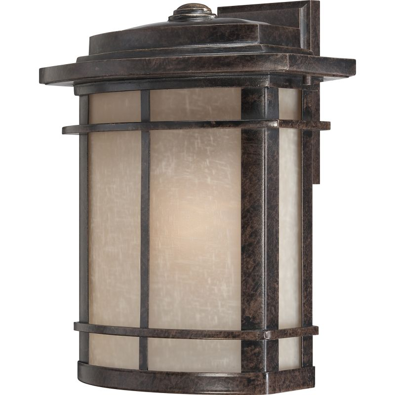"""Quoizel GLN8412 Galen 1 Light 15"""" Tall Outdoor Wall Sconce with Umber"""