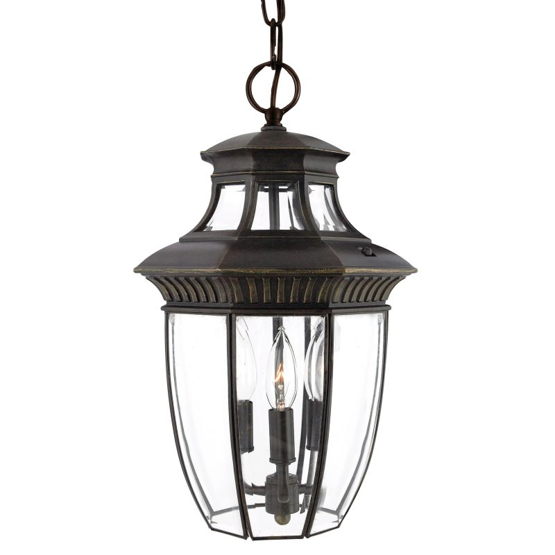 "Quoizel GT1700 Georgetown 3 Light 10"" Wide Outdoor Pendant Lantern"