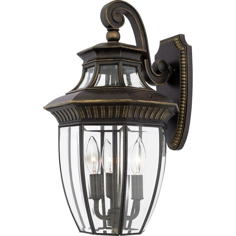"Quoizel GT8981 Georgetown 3 Light 18"" Tall Outdoor Wall Sconce with"