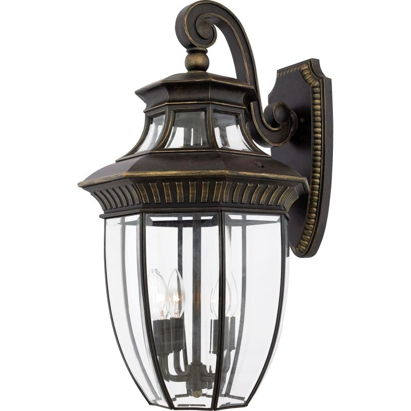 "Quoizel GT8982 Georgetown 4 Light 24"" Tall Outdoor Wall Sconce with"