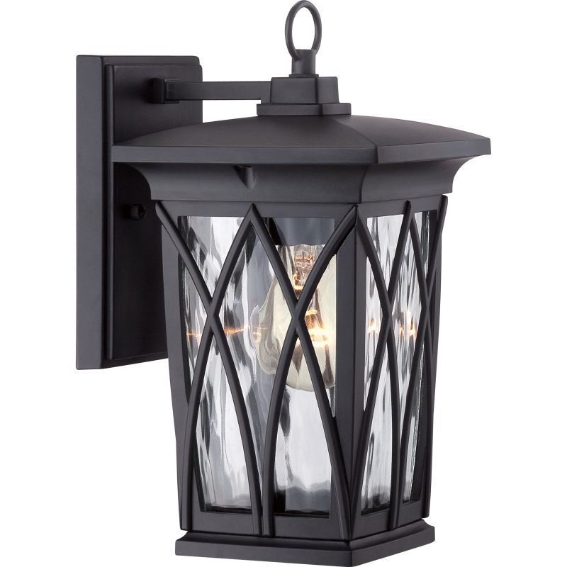 Quoizel GVR8406 Grover 1 Light Outdoor Wall Sconce Mystic Black