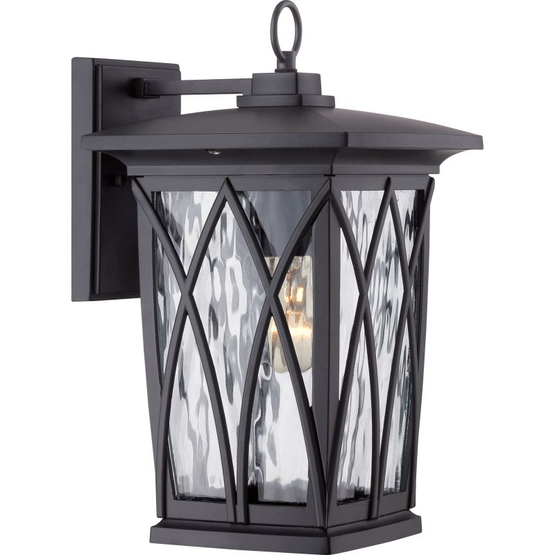 Quoizel GVR8408 Grover 1 Light Outdoor Wall Sconce Mystic Black
