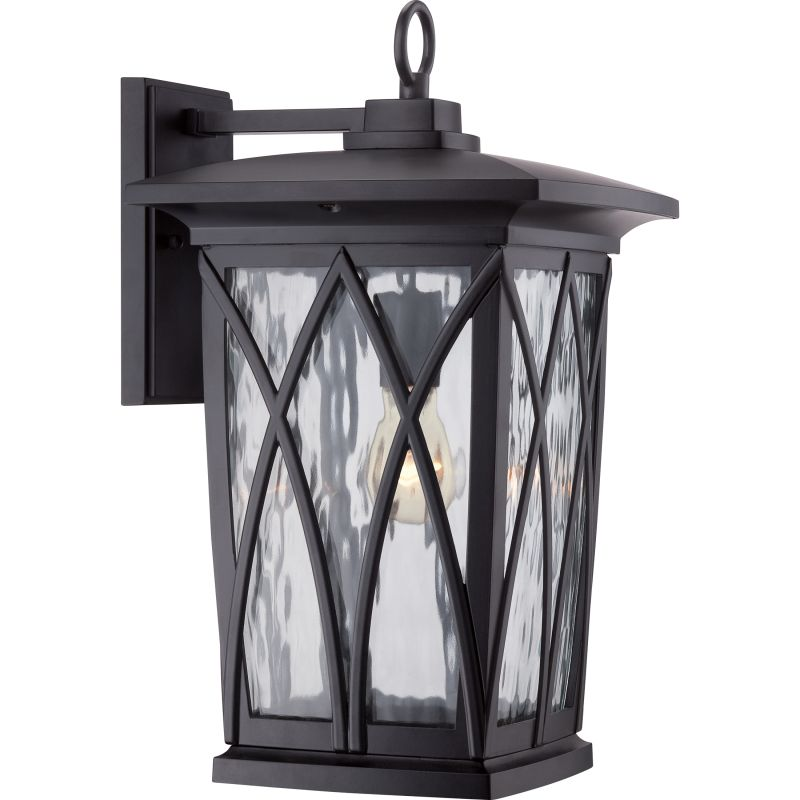 Quoizel GVR8410 Grover 1 Light Outdoor Wall Sconce Mystic Black