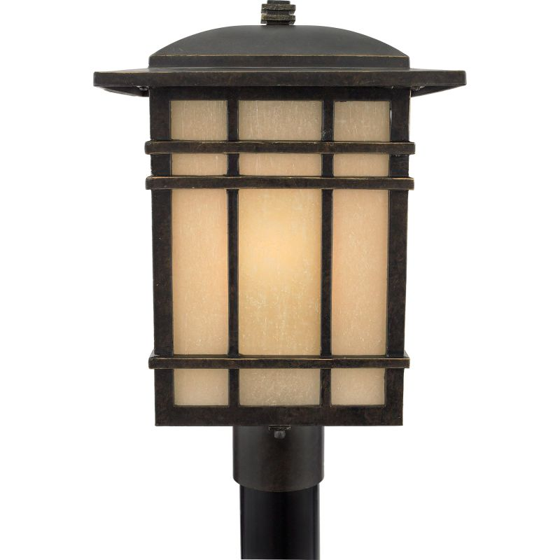 "Quoizel HC9011 Hillcrest 1 Light 17"" Tall Post Lantern with Opaque"