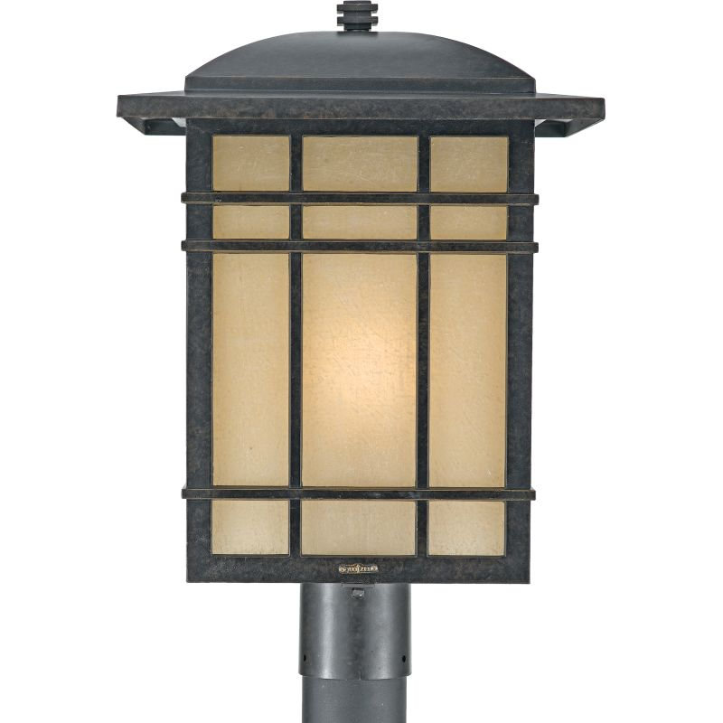 "Quoizel HC9013 Hillcrest 1 Light 20"" Tall Post Lantern with Opaque"