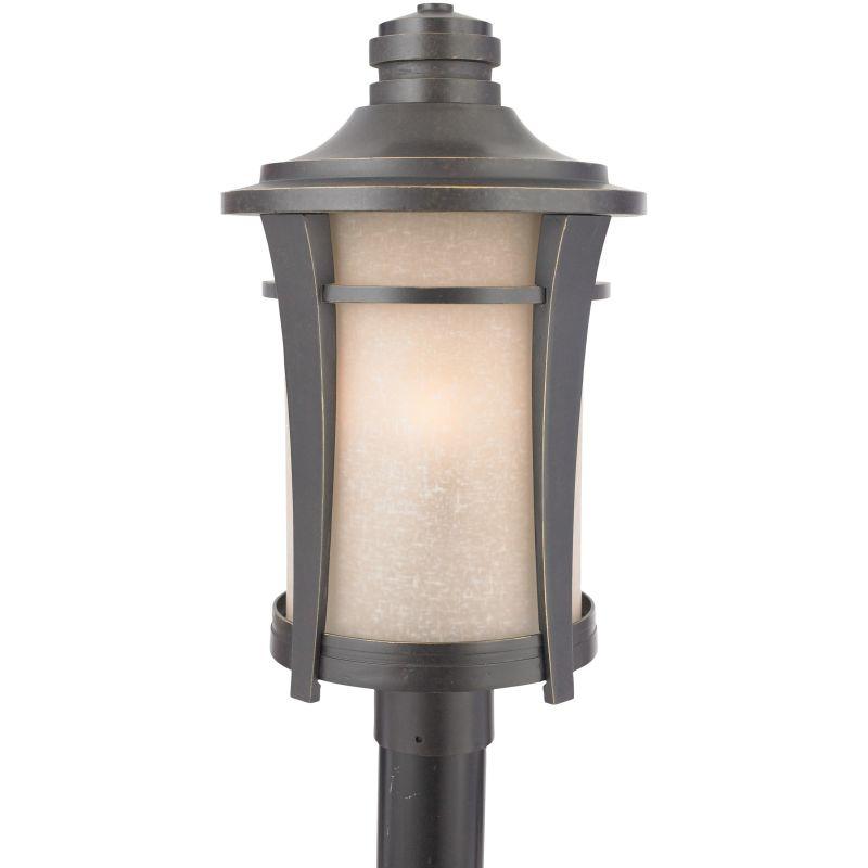 "Quoizel HY9011 Harmony 3 Light 21"" Tall Post Lantern with Cream Linen"