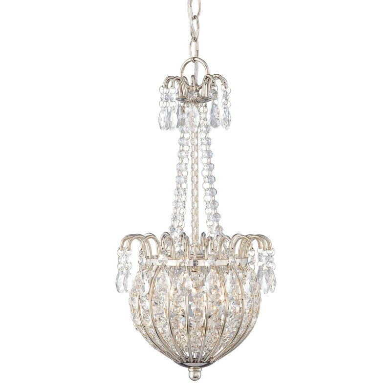 Quoizel JLE2809 Jolene 2 Light Crystal Pendant Imperial Silver Indoor