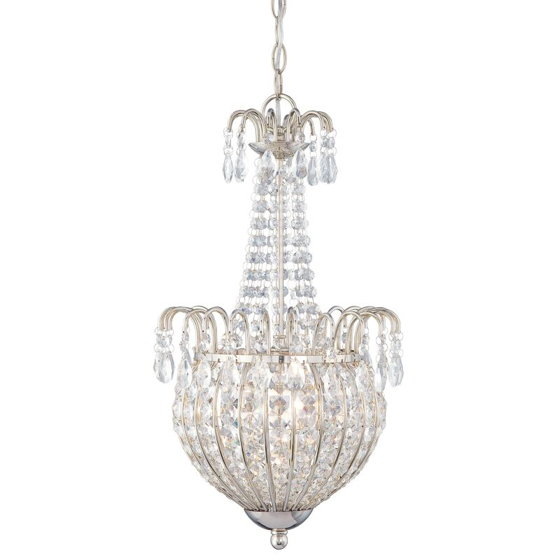 Quoizel JLE2812 Jolene 3 Light Crystal Pendant Imperial Silver Indoor
