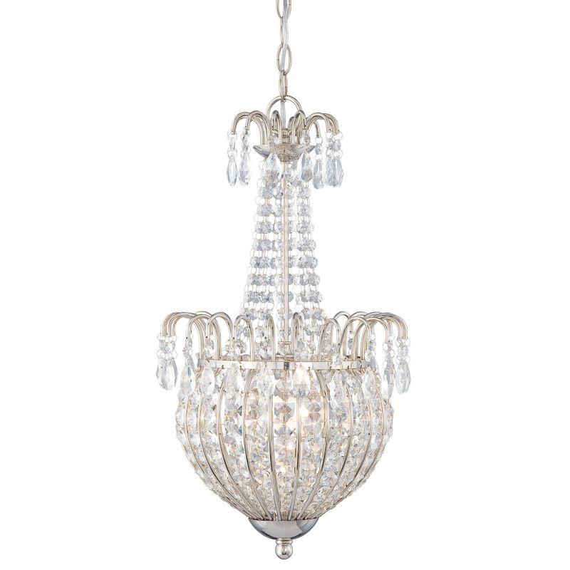 Quoizel JLE2812 Jolene 3 Light Crystal Pendant Imperial Silver Indoor