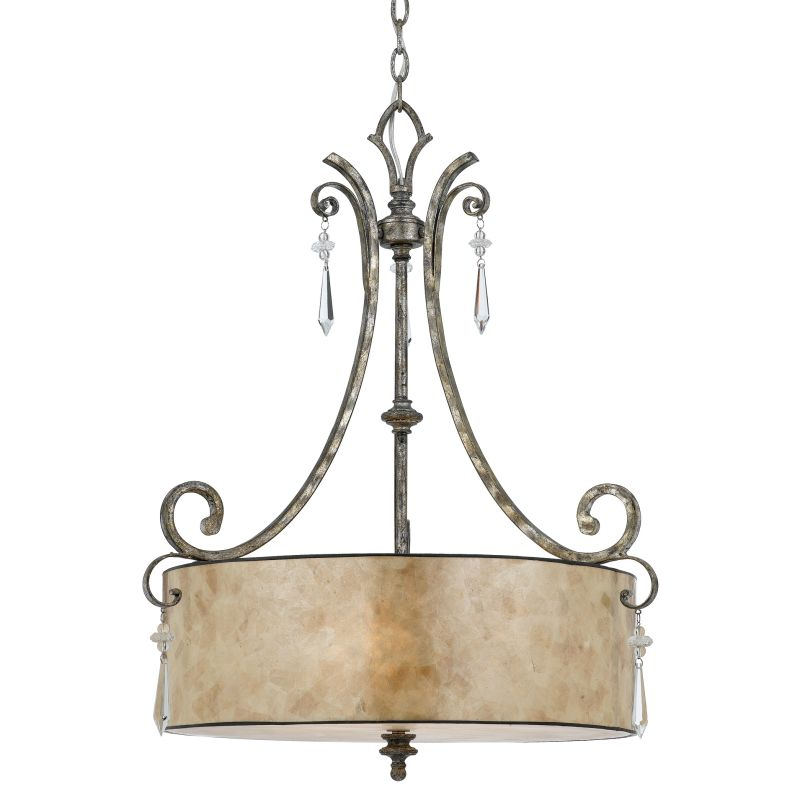 Quoizel KD2824 Kendra 4 Light Drum Pendant with Oyster Mica Shade Sale $579.99 ITEM: bci835724 ID#:KD2824MM UPC: 611728141304 :