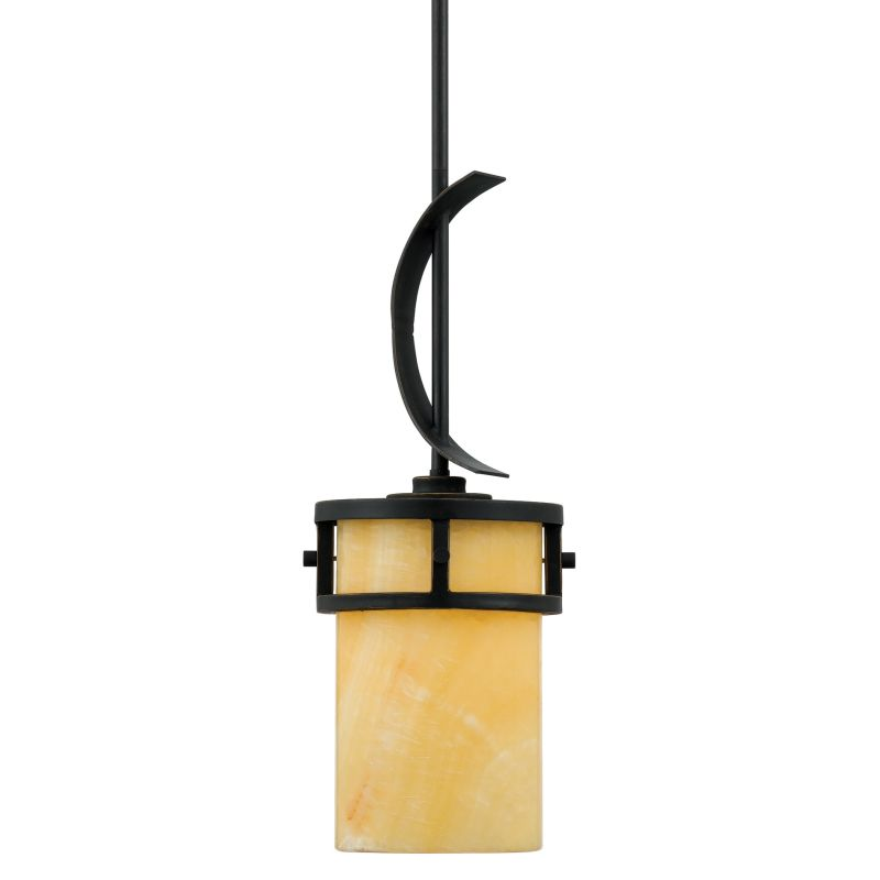 Quoizel KY1507 Kyle 1 Light Mini Pendant with Natural Onyx Shade