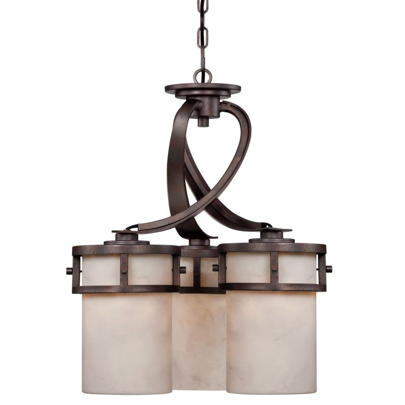 """Quoizel KY5103 Kyle 3 Light 20"""" Wide Chandelier with Onyx Pillar"""