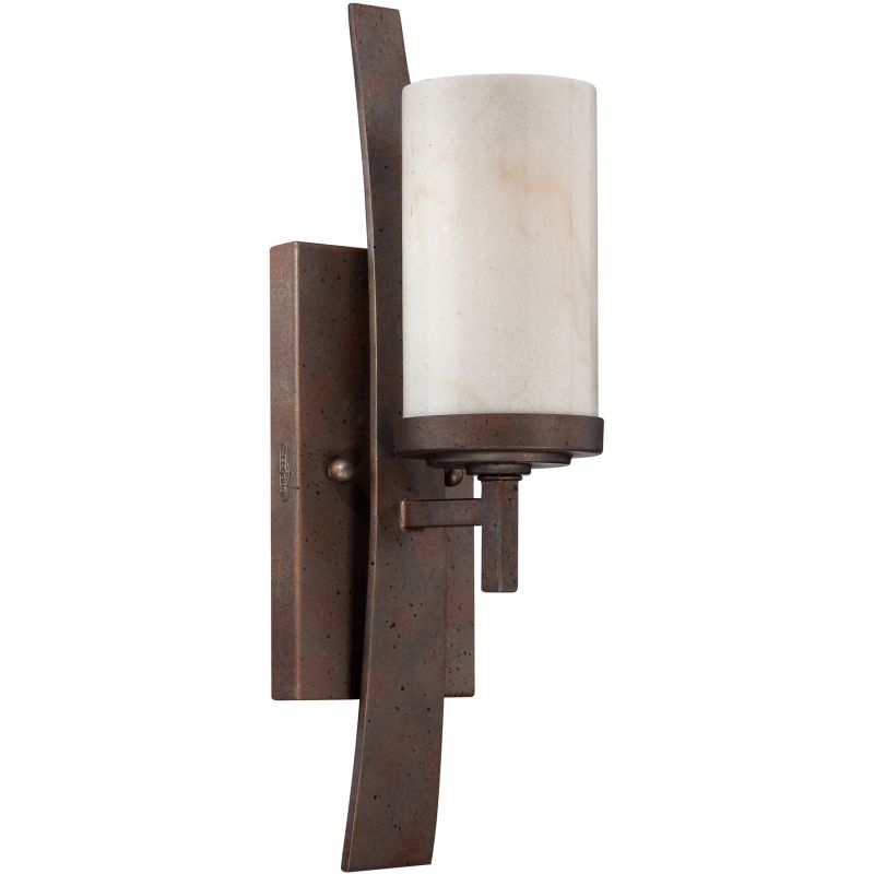 """Quoizel KY8701 Kyle 1 Light 16"""" Tall Wall Sconce with Onyx Shade Iron"""