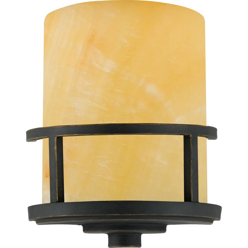 """Quoizel KY8801 Kyle 1 Light 11"""" Tall Wall Washer with Onyx Shade"""