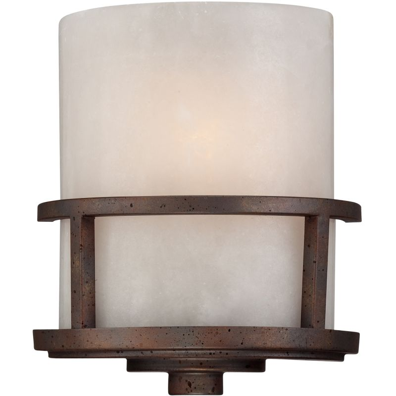 """Quoizel KY8801 Kyle 1 Light 11"""" Tall Wall Washer with Onyx Shade Iron"""