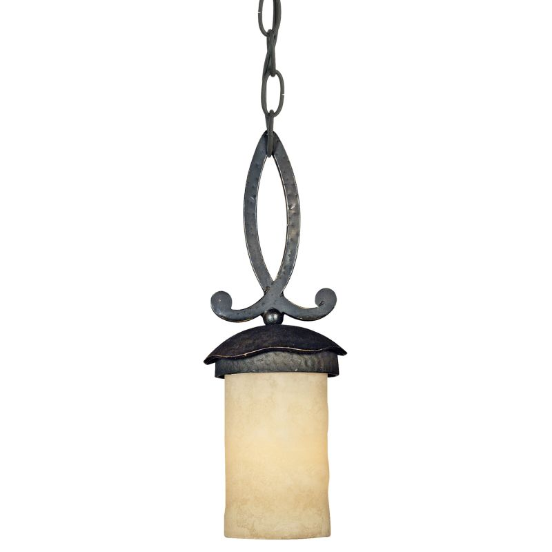 Quoizel LP1505 La Parra 1 Light Mini Pendant with Candella Scavo Glass