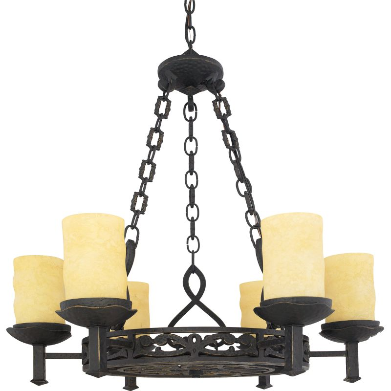 "Quoizel LP5006 La Parra 6 Light 28"" Wide Candle Style Chandelier with"