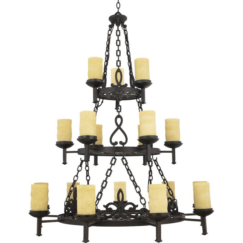 "Quoizel LP5018 La Parra 18 Light 3 Tier 48"" Wide Pillar Candle"