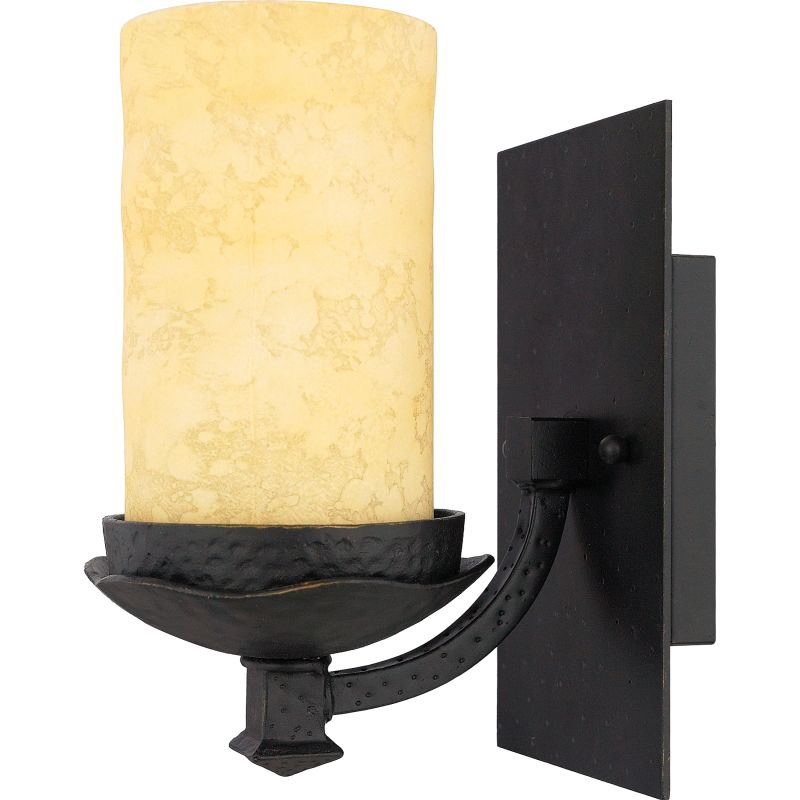 "Quoizel LP8601 La Parra 1 Light 5"" Wide Reversible Bathroom Sconce"