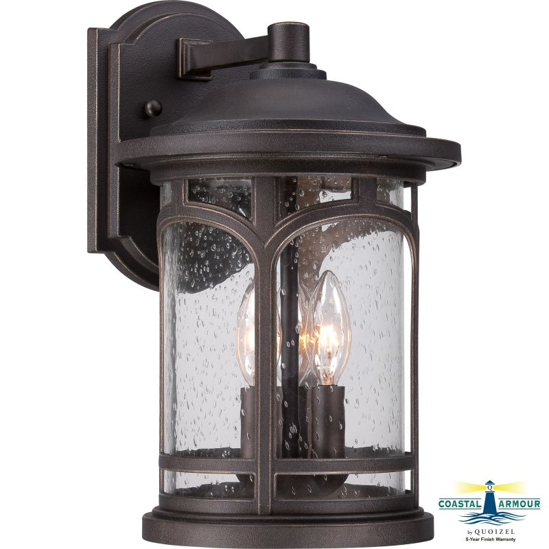 "Quoizel MBH8409 Marblehead Outdoor 3 Light 14.5"" Tall Outdoor Wall"