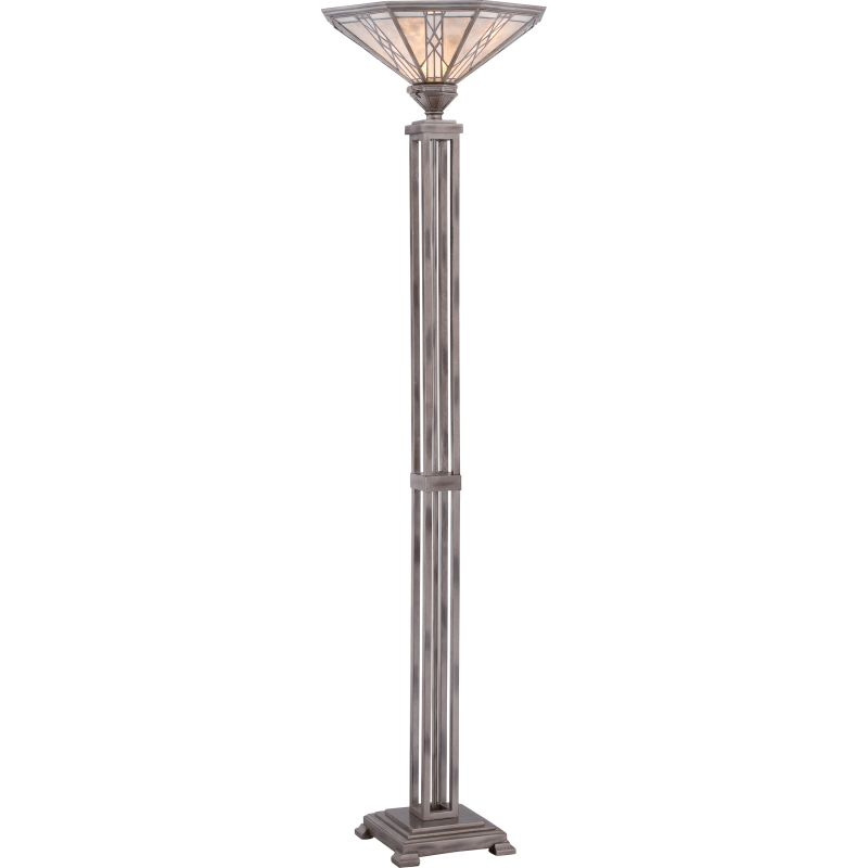 Quoizel MCCS9470 Cyrus 1 Light Torchiere Floor Lamp Anniversary Silver