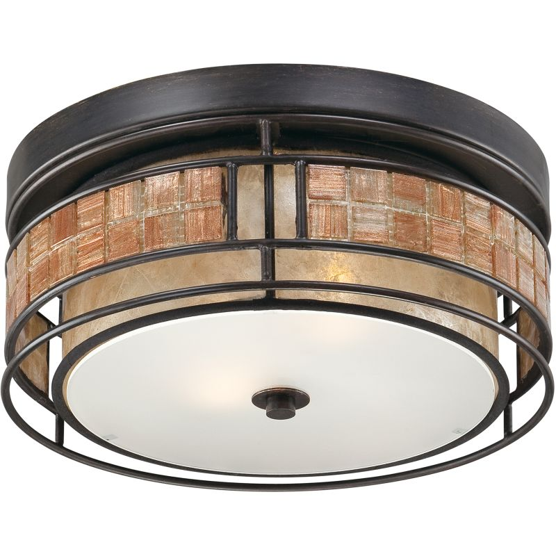"Quoizel MCLG1612 Laguna 2 Light 12"" Wide Flush Mount Ceiling Fixture"