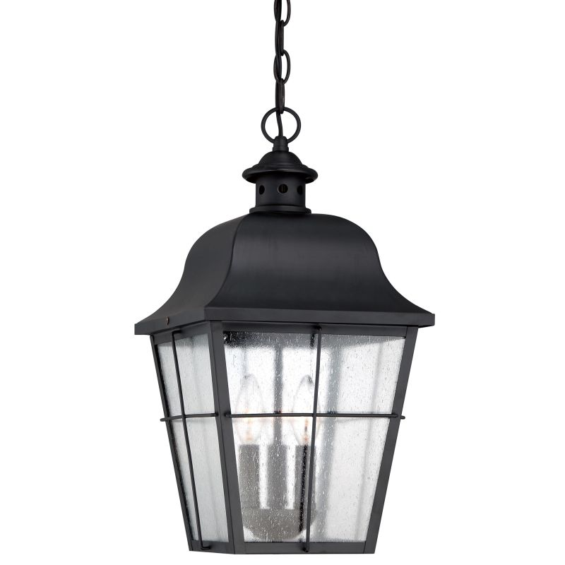 Quoizel MHE1910 Millhouse 3 Light Lantern Outdoor Pendant with Glass