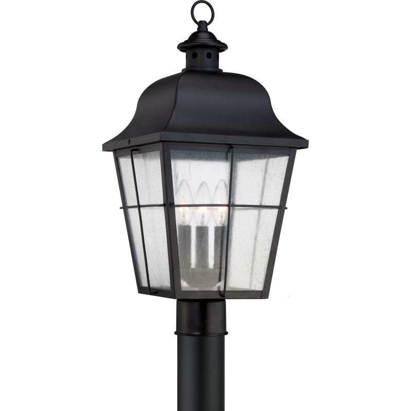 """Quoizel MHE9010 Millhouse 3 Light 22"""" Tall Post Lantern with Clear"""