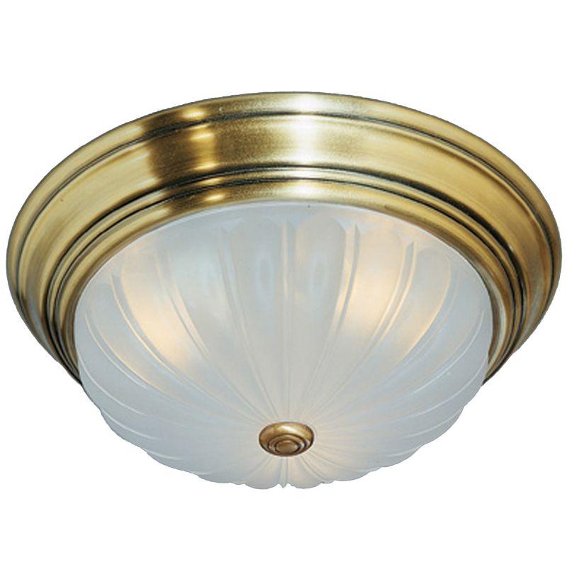 "Quoizel ML182 Melon 1 Light 11"" Wide Flush Mount Ceiling Fixture with"