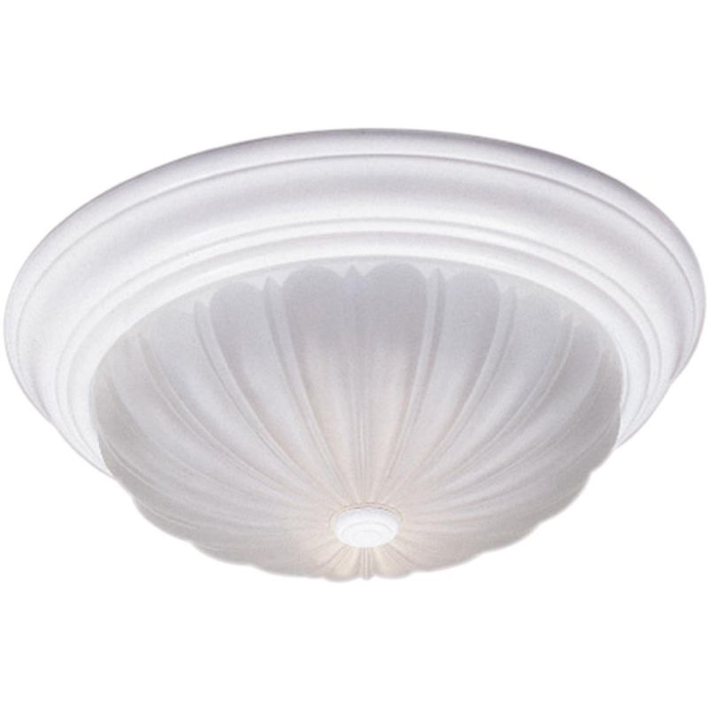 "Quoizel ML182 Melon 1 Light 11"" Wide Flush Mount Ceiling Fixture with"