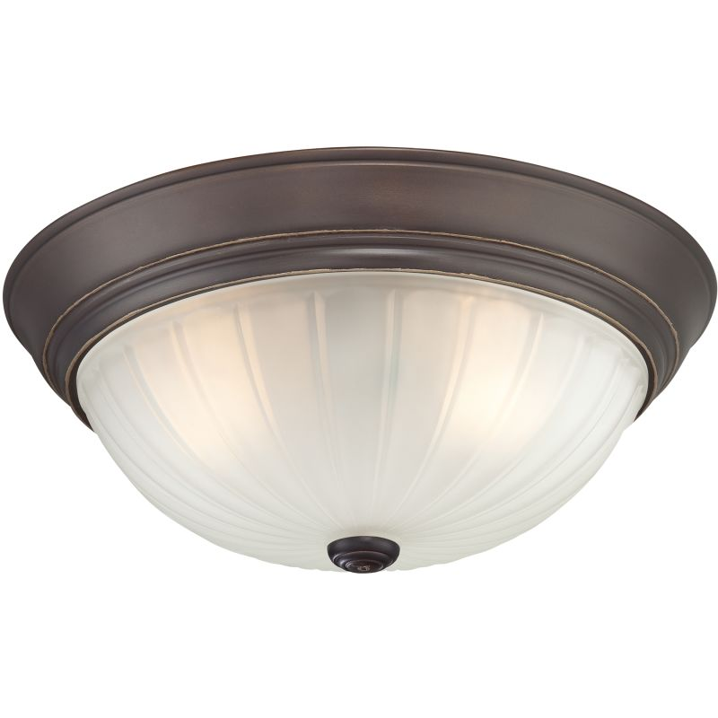 "Quoizel ML184 Melon 3 Light 16"" Wide Flush Mount Ceiling Fixture with"