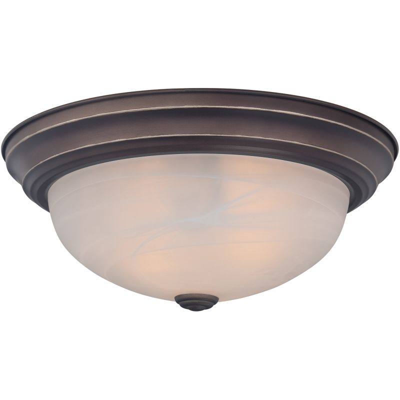 "Quoizel MNR1615 Manor 3 Light 15"" Wide Flush Mount Ceiling Fixture"