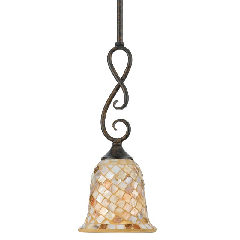 """Quoizel MY1506ML 1 Light Mini 6"""" Pendant Monterey Mosaic"""